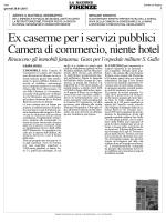 29 gennaio NAZ FI. Ex caserme per i servizi pubblici Camera di