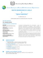 Master in Igiene Implantare - Università degli Studi Guglielmo Marconi