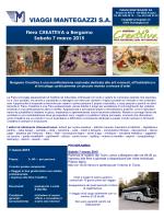 Fiera CREATTIVA a Bergamo Sabato 7 marzo 2015