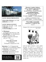"""Bollettino """"Vita della Comunità"""" - Missione Cattolica Italiana Berna"""