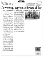 30 gennaio NAZ AR. Powercrop, la protesta davanti al Tar