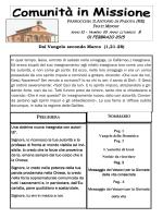 01 FEBBRAIO 2015 - Parrocchia s. Antonio di Padova