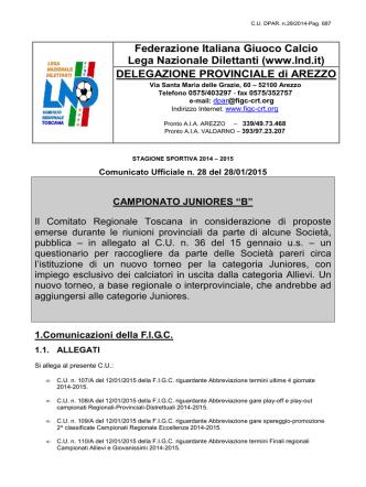 CU.DPAR n.28 - Figc - Comitato Regionale Toscana