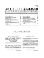 AMTLICHER ANZEIGER