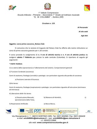 circolare n.123 corso primo soccorso Rotary