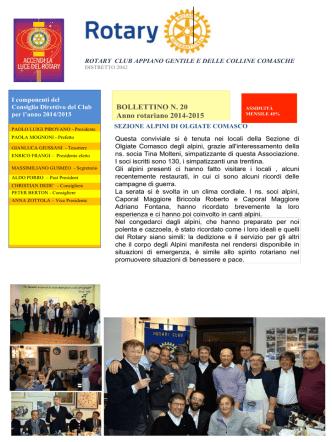 bollettino n.20 - Rotary Appiano Gentile