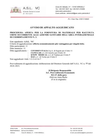 Allegato B - ASL 13 Novara