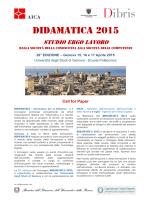 Scarica la Call For Paper - didamatica 2015