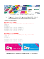 ACQUISTA I BIGLIETTI EXPO 2015 CON NOI! Dal 1 Maggio al 31