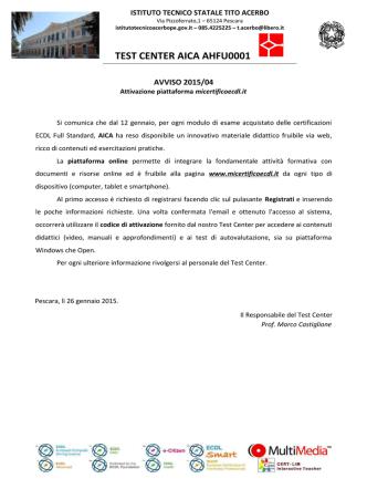 avviso 2015 / 04 - Istituto Tecnico Statale