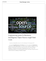 Engineering porta la Business Intelligence Open Source negli Stati