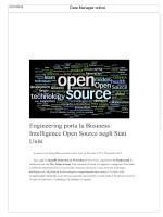 Engineering porta la Business Intelligence Open Source negli Stati