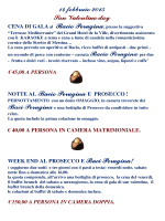 Pacchetti San Valentino 2015
