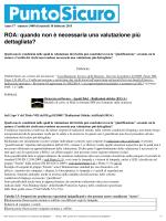 ROA: quando non è necessaria una valutazione più