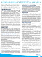 CONDIZIONI GENERALI DI TRASPORTO AL 04/02/2015