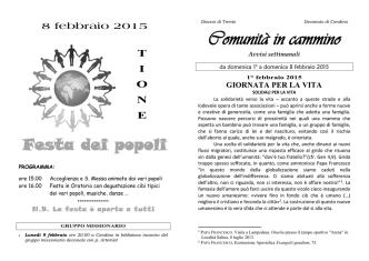 Comunità in cammino - Unità Pastorale Madonna dell`Aiuto