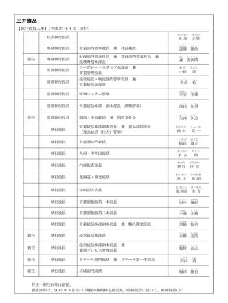 2015年4月1日>三井食品