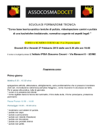 SCUOLA DI FORMAZIONE TECNICA