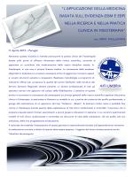 L\`applicazione della medicina basata sull\`evidenza in fisioterapia