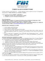 S.I.T. -Corso allievo Istruttore Firenze-Livorno