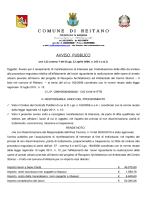 AVVISO PUBBLICO - Comune di Reitano