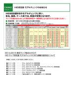 HIDランプ安定器モデルチェンジのお知らせ(610KB)