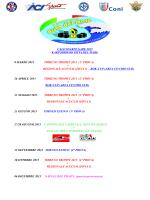 Calendario Gare Ufficiale 2015