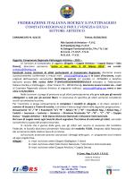 Iscrizioni atleti campionati regionali - 2015