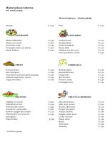 Menu del 10 Febrraio 2015 - CRAL Aziendale Fondiaria