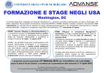 formazione e stage negli usa - Università degli studi di Bergamo