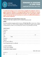 CEFME Scheda Iscrizione - BTI Biotechnology Institute