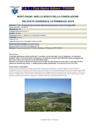 C.A. I. – Club Alpino Italiano - FOGGIA