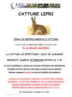 Comunicazione calendario catture Lepri 2015