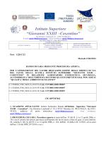 Bando - Istituto Superiore Giovanni XXIII
