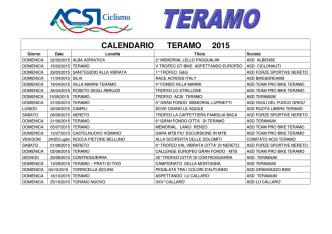 CALENDARIO TERAMO 2015