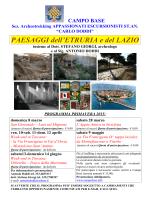 programma di archeotrekking per la stagione