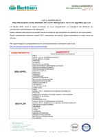 Scheda ingredienti - bettari detergenti