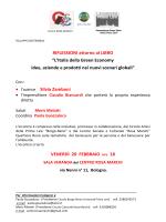 """RIFLESSIONI attorno al LIBRO """"L`Italia della Green Economy idee"""