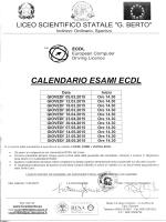 Calendario esami E.c.d.l.