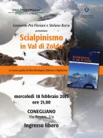 Locandina Scialpinismo Zoldo- Conegliano.indd