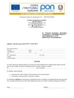 Modulo adesione - ICS Giovanni Paolo II Piano Tavola