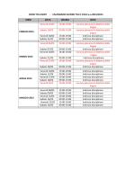 CORSI TFA UNINT - CALENDARIO LEZIONI TFA II CICLO a.a.2014