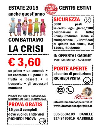 Centri Estivi 2015 - La Romana Cooperativa