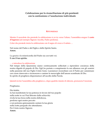 celebrazione penitenziale quaresima - Diocesi di Piacenza