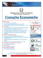 Cronache Economiche N.4 - Ambasciata d`Italia in Turchia