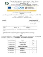 Domanda di partecipazione alla selezione di per il Programma
