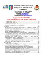 Comunicato ufficiale N.30