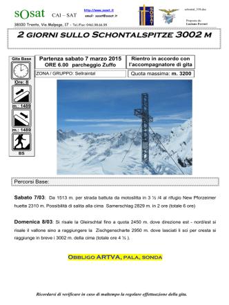 2 giorni sullo Schontalspitze 3002 m