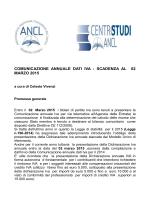 Comunicazione annuale dati IVA: scadenza al 2 marzo 2015