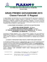 Gran Premio Giovanissimi 2015 - Comitato Regionale Marche
